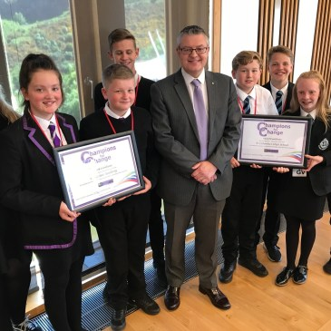 Gourock Groups Pupils and Stuart McMillan