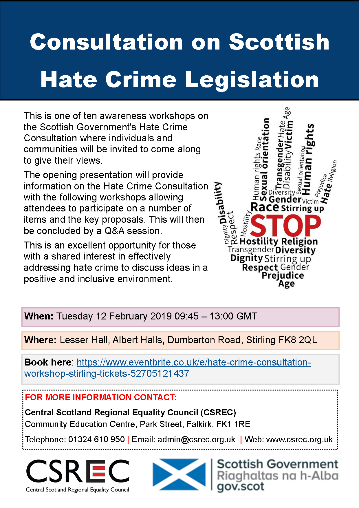 stop consultation poster